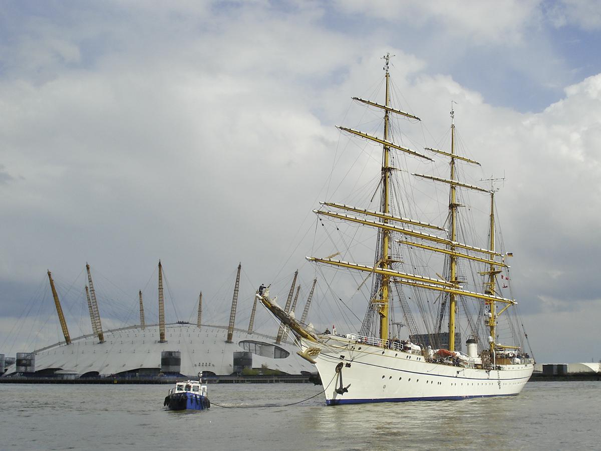 Gorch Fock in London. Foto: Wolfgang M. Köhn